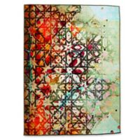 Oliver Gal 1001 Nights 5-Foot x 8-Foot Area Rug in Red/Green