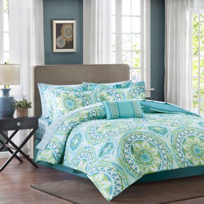 Bon Madison Park Essentials Serenity Twin Comforter Set In Aqua