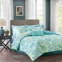 Madison Park Essentials Serenity Queen Comforter Set in Aqua