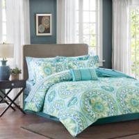 Madison Park Essentials Serenity California King Comforter Set in Aqua