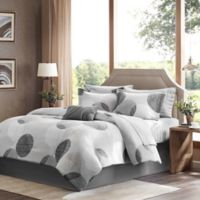 Madison Park Essentials Knowles Queen Comforter Set in Grey