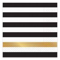 Design Design 20-Count Kenzie Cocktail Napkin in Black
