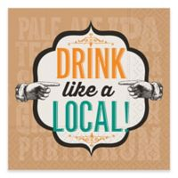 "Design Design 20-Count ""Drink Like a Local"" Beverage Napkin"