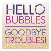 """Design Design 20-Count """"Hello Bubbles"""" Beverage Napkin"""
