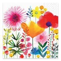 Design Design 20-Count Watercolor Wildflowers Beverage Napkin