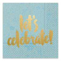 """Design Design 20-Count """"Let's Celebrate"""" Beverage Napkins"""