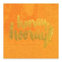Design Design® Hooray Hooray Cocktail Napkins in Orange (Set of 16)