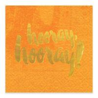Design Design® Hooray Hooray Cocktail Napkins in Orange (Set of 16)