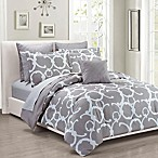 Maison Risa 10-Piece King Comforter Set in Grey