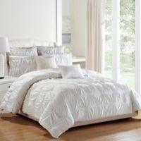 Kensie Akita 8-Piece King Comforter Set in White