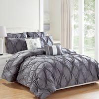 Kensie Akita 8-Piece Queen Comforter Set in Grey