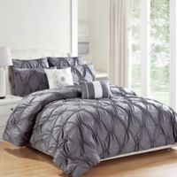 Kensie Akita 8-Piece King Comforter Set in Grey