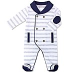 Wendy Bellissimo™ Size 3-6M Double Breasted Footie Pajama in Grey Stripe