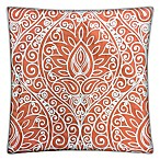Whitney Square Throw Pillow in Coral (Set of 2)