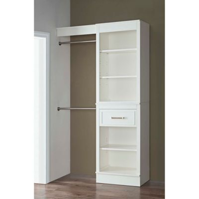 Elegant French Heritage 48 Inch Closet Organizer In Parisian White