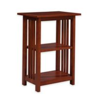 Alaterre Mission 2-Shelf End Table in Cherry