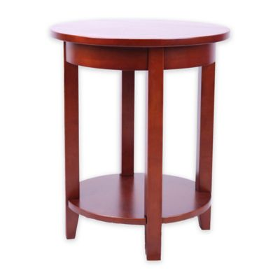 Alaterre Shaker Cottage Round Accent Table In Cherry