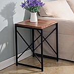 Plank Wood Accent Table
