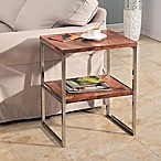 Chandler Steel and Wood Accent Table