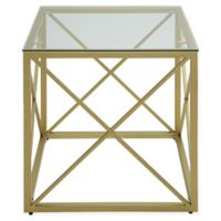 Carolina Cottage Maren Accent Table in Gold
