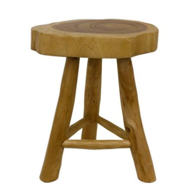 Decor Therapy Tri-Leg Wood Stool in Natural  sc 1 st  Bed Bath u0026 Beyond & Buy Wood Stools from Bed Bath u0026 Beyond islam-shia.org