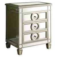 3-Drawer Accent Table in Silver
