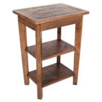 Revive Reclaimed Wood 2-Shelf End Table with Natural Finish