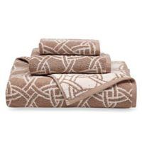 Natori Dynasty Medallion Bath Towel in Beige/Tan