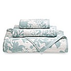 Loft by Loftex Floral Block Washcloth in Blue/Off White