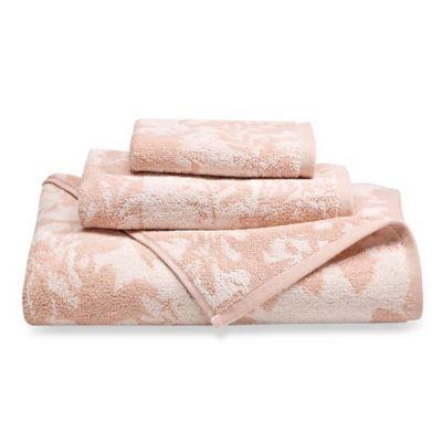 loft by loftex floral block bath towel in pinkwhite - Pink Bathroom Towels