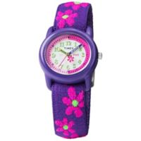 Timex® Time Machines Children's 29mm Floral Watch in Purple