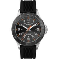 Timex® Main Street Men's 42mm Taft Street Watch in Black Brass with Black Silicone Strap