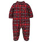 Little Me Size 3M Footie Pajamas in Red Plaid