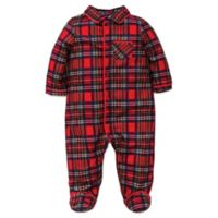 Little Me Size 6M Footie Pajamas in Red Plaid