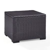 Crosley Biscayne All-Weather Wicker Coffee Table in Brown