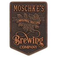 Whitehall Products Recipe Brewing Company Beer Plaque in Oil Rubbed Bronze