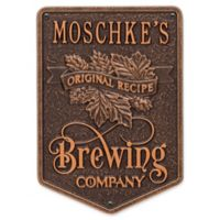 Whitehall Products Recipe Brewing Company Beer Plaque in Antique Copper