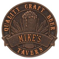 Whitehall Products Craft Beer Tavern Round Plaque in Oil Rubbed Bronze