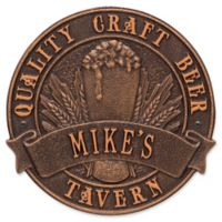 Whitehall Products Craft Beer Tavern Round Plaque in Antique Copper