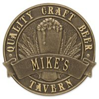 Whitehall Products Craft Beer Tavern Round Plaque in Antique Bronze