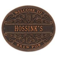 Whitehall Products Brew Pub Welcome Plaque in Oil Rubbed Bronze