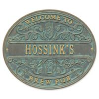 Whitehall Products Brew Pub Welcome Plaque in Bronze