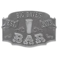 Whitehall Product Established Bar Plaque in Pewter/Silver