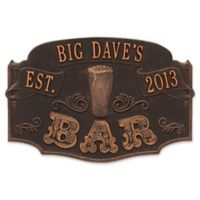 Whitehall Product Established Bar Plaque in Oil Rubbed Bronze