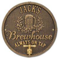 Whitehall Products Oak Barrel Beer Pub Plaque in Dark Bronze/Gold
