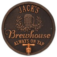 Whitehall Products Oak Barrel Beer Pub Plaque in Oil Rubbed Bronze