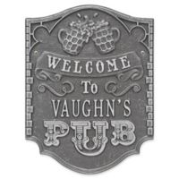 Whitehall Products Brew Pub Welcome Plaque in Pewter/Silver