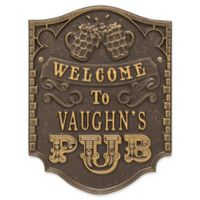 Whitehall Products Brew Pub Welcome Plaque in Dark Bronze/Gold
