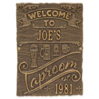 Whitehall Products Tap Room Brew Pub Plaque in Dark Bronze/Gold