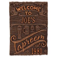 Whitehall Products Tap Room Brew Pub Plaque in Antique Copper